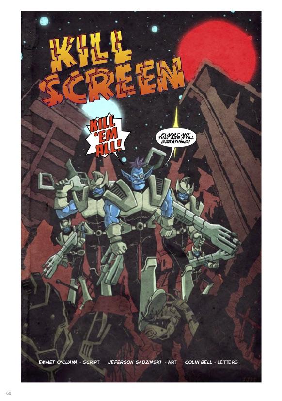 Emmet O'Cuana, Jeferson Sadzinski, lettering by Colin Bell, Kill Screen, Australia2